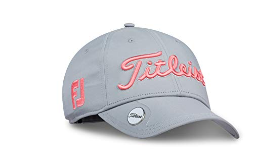 Titleist Women's Tour Performance Ball Marker Golf Hat, Grey/Watermelon