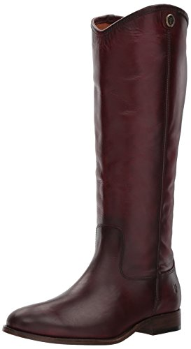 Frye Women's Melissa Button 2 Riding Boot, Wine, 6.5 M US