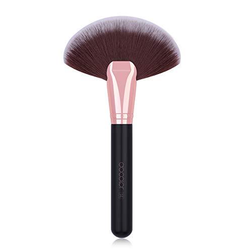Le maquillage qui respecte l'environnement brosse, le synthétiseur synthétique professionnel de cosmétiques de visage de brosse de poudre de cheveux de chèvre de synthèse