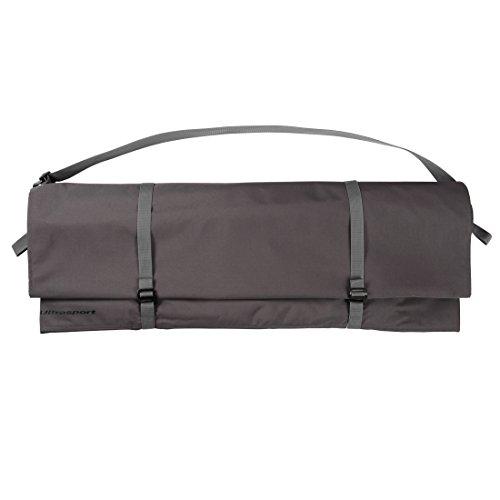 Ultrasport Sac à corde d'escalade, peut être porté de différentes façons, le sac peut être utilisé comme support pour poser proprement la corde, imperméable, pour corde de 100 m max., couleur : gris