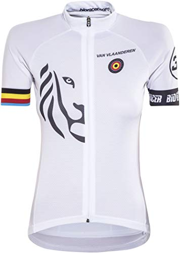 Bioracer Van Vlaanderen Pro Race Trikot Damen White Größe XXL 2020 Radtrikot kurzärmlig