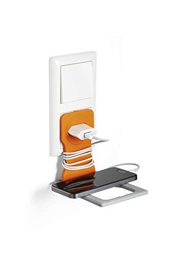 Durable 773509 Varicolor Handy Ladehalter für die Steckdose, rutschfest & zusammenklappbar, orange
