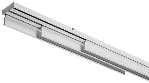 X-PROFILES Binario per Tende a Pannello - 3 Vie con Comando Manuale - Installazione a Soffitto - Completo per l'Installazione (cm180-pannello 65cm)