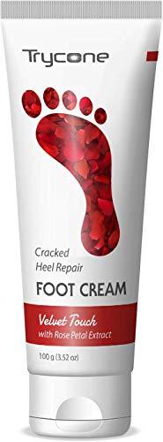 Trycone Cracked Heel Repair Foot Cream Velvet Touch with Rose Petal, 100 Gm