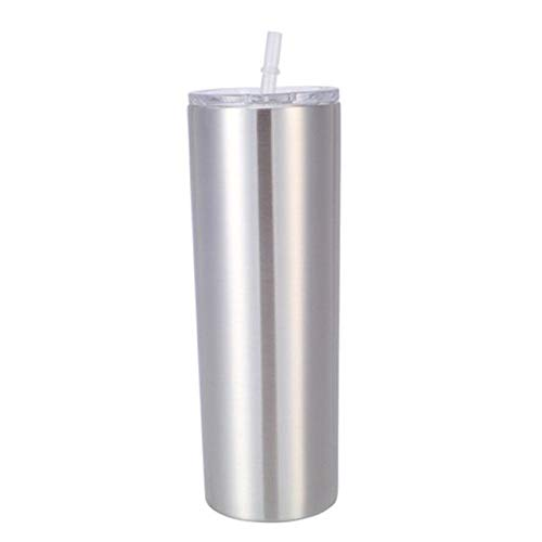 600ml Stainless Steel Double Vacuum Insulated Unbreakable Tumbler Cup with Lid & Straws Water Cup MUZI
