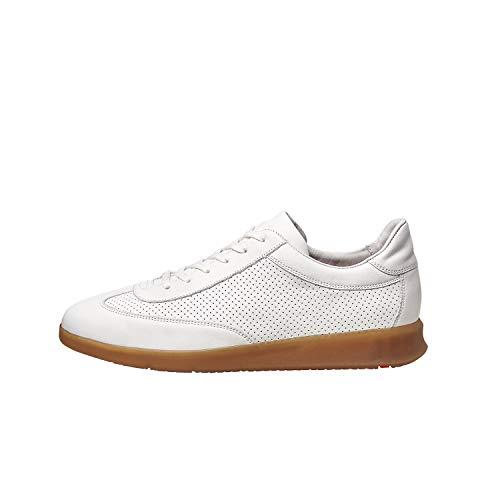 LLOYD Herren Sneaker Bristol, Männer Low-Top Sneaker,lose Einlage,Halbschuh,schnürschuh,strassenschuh,Business,Freizeit,Men's,White,43 EU / 9 UK