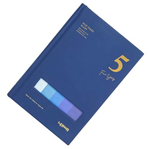 STOBOK Cuaderno de notas de cinco años, planificador de viajes, color azul, cuaderno de bocetos, estudiantes, oficina, agenda de negocios, agenda