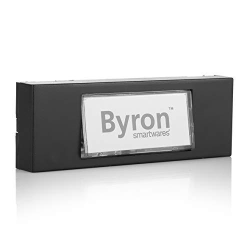 Byron 7740 Verdrahteter Universal-Klingeltaster in schwarz mit beschreibbarem Namensschild