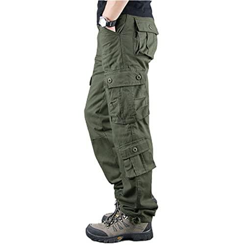 DEBND Pantalones De Carga Hombres Pantaln Tactico Pantalones de Senderismo Ligeros de Secado rpido Transpirables Exteriores Viajes Camping EscaladaMultibolsillos