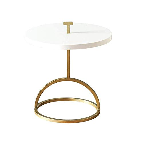 XBR Sofa Side Table,Tables Portable Side Table, Patio Coffee Table, Resistant Outdoor Side Table, Small Round End Table, Wrought Iron Combination Tea Table Coffee Table Color : Black high