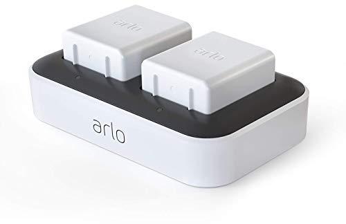 Arlo Zubehör, Doppelladestation (offiziell, bis zu zwei Akkus laden, nur mit kabelloser Arlo Ultra und Pro3 Überwachungskamera kompatibel) VMA5400C