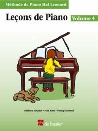 LecOns De Piano, Volume 4 (Avec CD): MeThode De Piano Hal Leonard