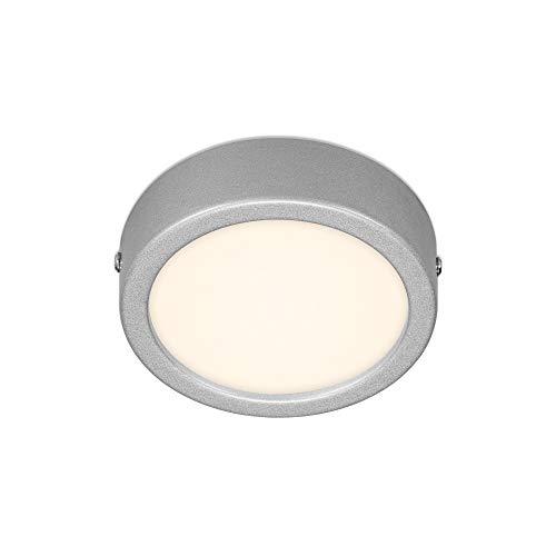 Briloner Leuchten - LED Aufbauleuchte, Deckenlampe, Deckenleuchte 7 Watt, 700 Lumen, 4.000 Kelvin, Rund, Chrom-Matt, 120x32mm (DxH)