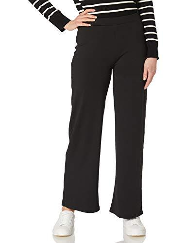 Only Onlfever Wide Pants Jrs Pantaln de Vestir, Negro, M para Mujer