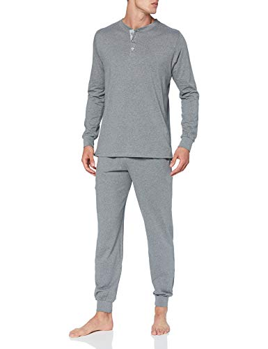 Seidensticker Herren Men Pyjama Long Pyjamaset, anthrazit-Mel, 048