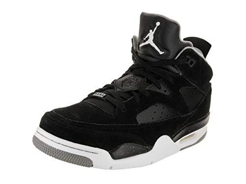 Jordan Mens Son of Mars Low Basketball Shoe Black White Grey Iron Grey Size 8.5