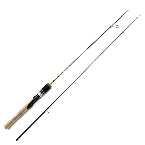 Hayandy 1.8M 1,68 M 1.98m UL Stäbe Spinning 2sec Carbon-Köder-Wt 2-8 g Casting Angelrute Spinning-Black_1.98m Fischerei Spinnerei. (Color : Black, Size : 1.8m)