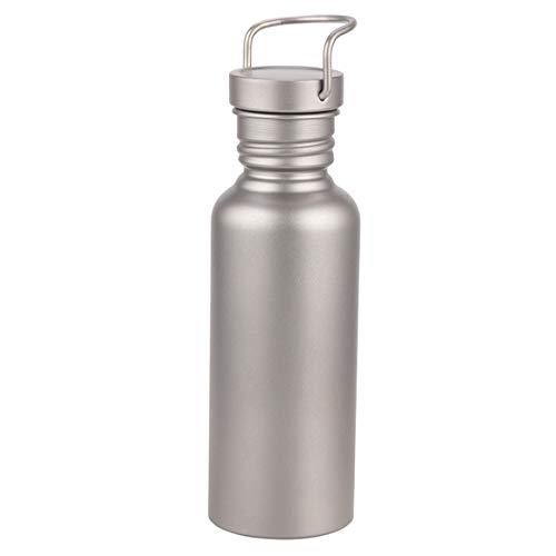 純チタンボトル 直飲み水筒 アウトドア登山 自転車スポーツウォーターボトル 超軽量・錆びない 広口水筒 430/600/650/750/800ML (600ml)