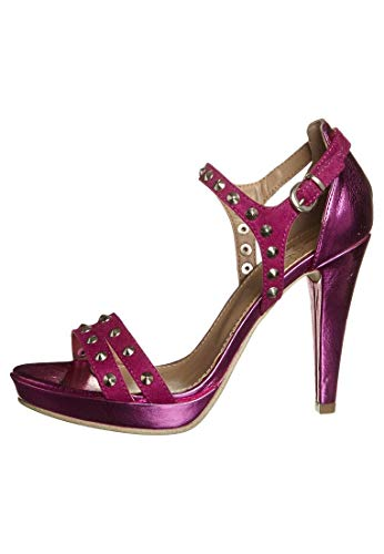 Even&Odd angesagte DamenHigh Heel Sandalette in frechem pink/Fuchsia NEU