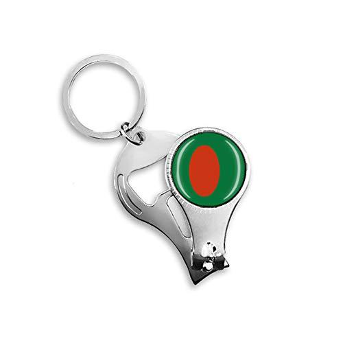 Flaschenöffner mit Bangladescher Flagge, Bier, Nagelknipser, Metall, Glas, Kristall, Schlüsselanhänger, Reise-Souvenir, Geschenk, Schlüsselanhänger Zubehör