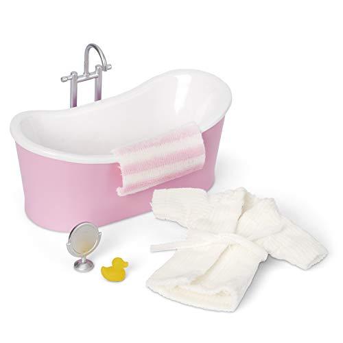 Lundby 60-306300 - Badewanne Puppenhaus - Möbelset 5 -teilig - Puppenhauszubehör - Möbel - Bad - Badezimmereinrichtung - Badmöbel - Zubehör - ab 4 Jahre - 11 cm Puppen - Minipuppen 1:18
