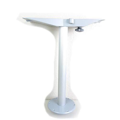 Zwaardvis Tischgestell Alu Tischsäule mit Einlass Fuß Säule Ø 60 mm Höhe 63 cm Innenausbau