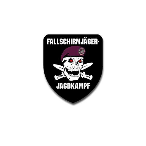 Fallschirmjäger Jagdkampf TYP2 Totenschädel FschJg Barett Abzeichen 7x6cm#A4349