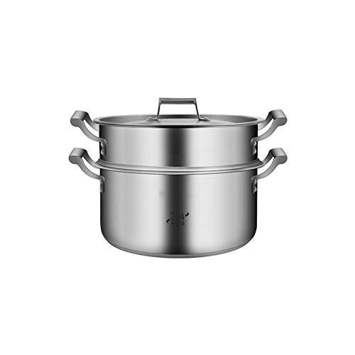 Olla de inducción gourmet de alta calidad, 40 cm, de acero inoxidable 304, con estructura avanzada de 2 capas y mango resistente al calor, apta para el hogar y la cocina moderno 36 cm Color