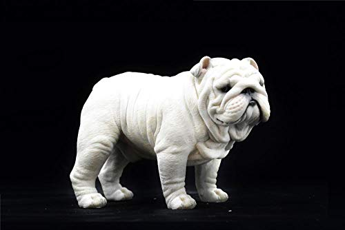 PHJK Statue Decorative Nuovo Bulldog Inglese Modello Decorazione Resina Artigianato Simulazione Regalo Decorazione per Auto Decorazione per Cani