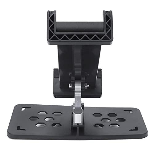 Supporto per tablet controller Supporto per telefono controller Supporto pieghevole nero Più di 5,5 pollici di telefoni cellulari Flessibile per telecomando Mini Drone(black)