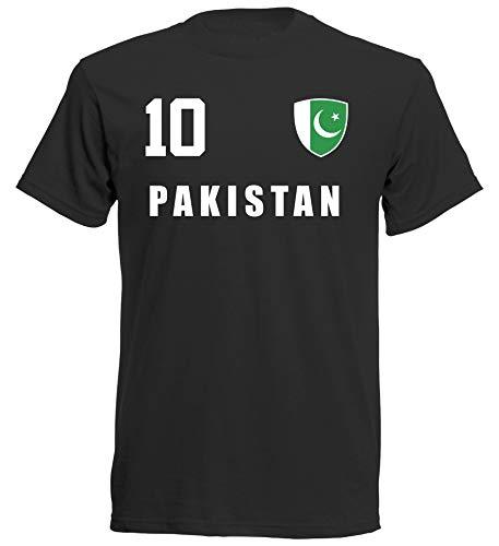Pakistan WM 2018 T-Shirt Trikot - schwarz ALL-10 - S M L XL XXL (XL)