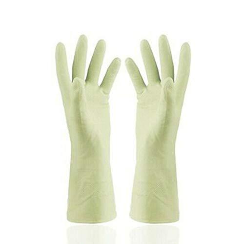 Schnittfeste schützende Silikon-Gummi-Spülhandschuhe, grün, 2