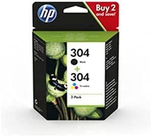 HP 304 - Cartuchos de tinta para HP Deskjet 2620, 2630, 2622, 2632, 2633, 2634, 3720, 3730, 3750, 3760, 3733, 3735, 3762, 3764, Envy 5010 0 503 0 5032