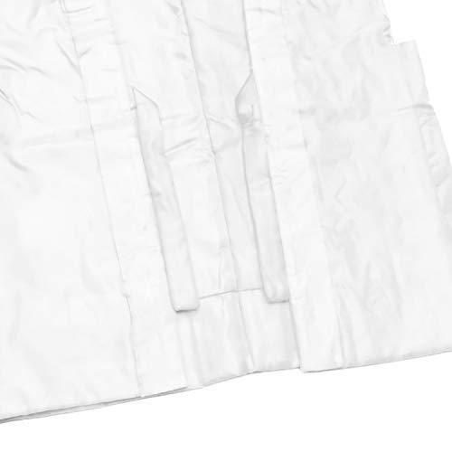[キョウエツ]ちゃんちゃんこ白寿白無地白寿祝い3点セット(白ちゃんちゃんこ、頭巾、扇子)(熨斗(長寿御祝/空欄))
