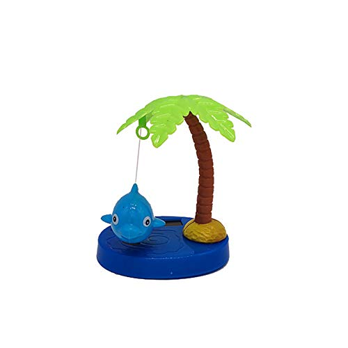 FAgdsyigao Coconut Tree Fish Pattern Solar Powered Dancing Swing Toy Car Ornamnet Home Decoration Kids Toys Blue