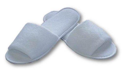 Hotelslipper Hausschuhe Frottee offen Einwegschuhe für Hotel Fußpflege Sauna Massage Wellness.