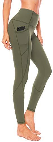 Persit Damen Yoga Leggings, Sport Tights Leggins Yogahose Sporthose für Damen Schwarz-L