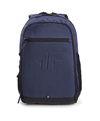 4f Rucksack Cityrucksack Schulrucksack Seitentaschen aus Mesh Daypack 19L PCU006 (Dunkelblau)