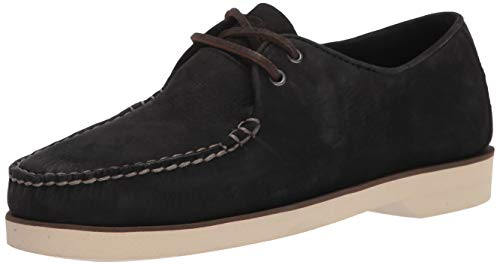 Sperry Unisex Captain's Oxford Nubuck, Black, 10.5 US Men