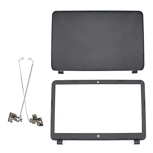 S-Union New Replacement LCD Back Cover & Front Bezel & Hinges Compatible for HP 250 255 G3 15-G 15-H 15Z-G 15G 15R 15-G040CA 15.6