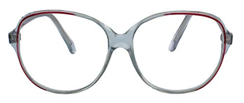 Nostalgische Damen Lesebrille im Retro Look der 60er 70er Jahre Rahmen transparent groß LR92 (Grau Maron +2.75 dpt)