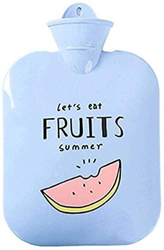 Cute botella de agua caliente de las muchachas, Caja fuerte duradero caliente bolsa de agua con cubierta suave paño grueso y suave (color al azar) for el hogar y al aire libre-A-1200 ML botella de agu