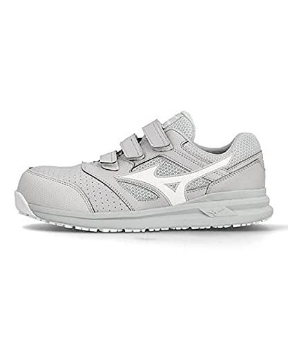 [ミズノ] メンズ プロテクティブ スニーカー 作業靴 オールマイティLS222L つま先保護芯 軽量 3E 幅広 カジュアル ウォーキング ALMIGHTY LS 2 22L F1GA2101 ライトグレー/ホワイト 26.0cm