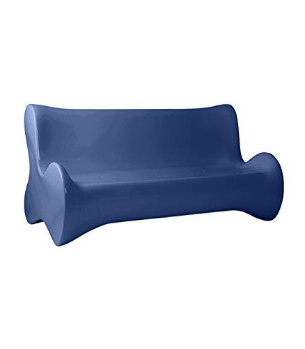 Vondom - Sofá suave, color azul marino brillante