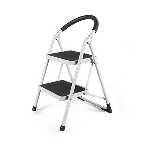 Scala Per Manutenzione Dell'hotel, Anti-ruggine Durable Home Ladder Library Restaurant Factory Ladder Home 2/3/4 Passo Scaletta Punte Pieghevoli Scale pieghevoli(Size:49*51*77.5CM,Color:White)