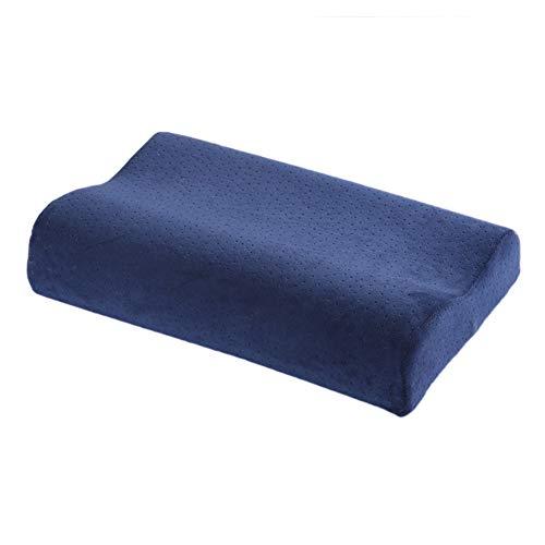 Cuscini per dormire, cuscino in memory foam con farfalla con federa in velluto, cuscino magnetico multicolore per studenti adulti (blu, 50 x 30 x 11-6 cm)