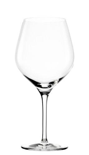 Stölzle Lausitz Burgunder Exquisit Rotweingläser, 650ml, 6er Set, spülmaschinenfest: Hochwertige Rotweinkelche aus bruchsicherem Glas, elegant und schlicht