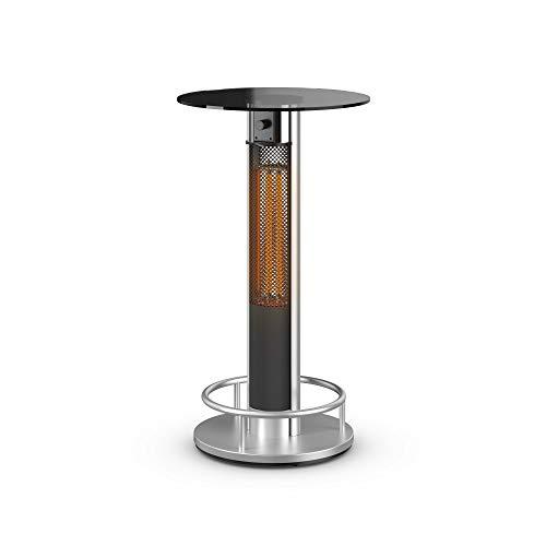 Swan Al Fresco SH16320N Bar Table Patio Heater, Anodized Aluminium Alloy Frame, Tempered Glass Table Top, 800 and 1600 Watts