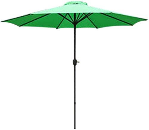 Sonnenschirme Sonnenschirm, Sonnenschirm Außensonnenschirm Gartengartenschirm |2.7m |Kurbel/Schwenkbarer/Runde/UV-Schutz (Color : Green)