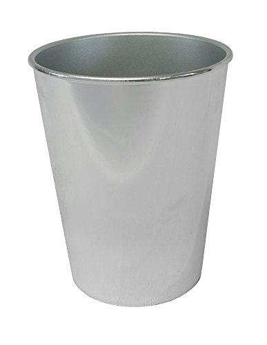 Decoline Kunststoff Blumentopf Rund (Silber verspiegelt)